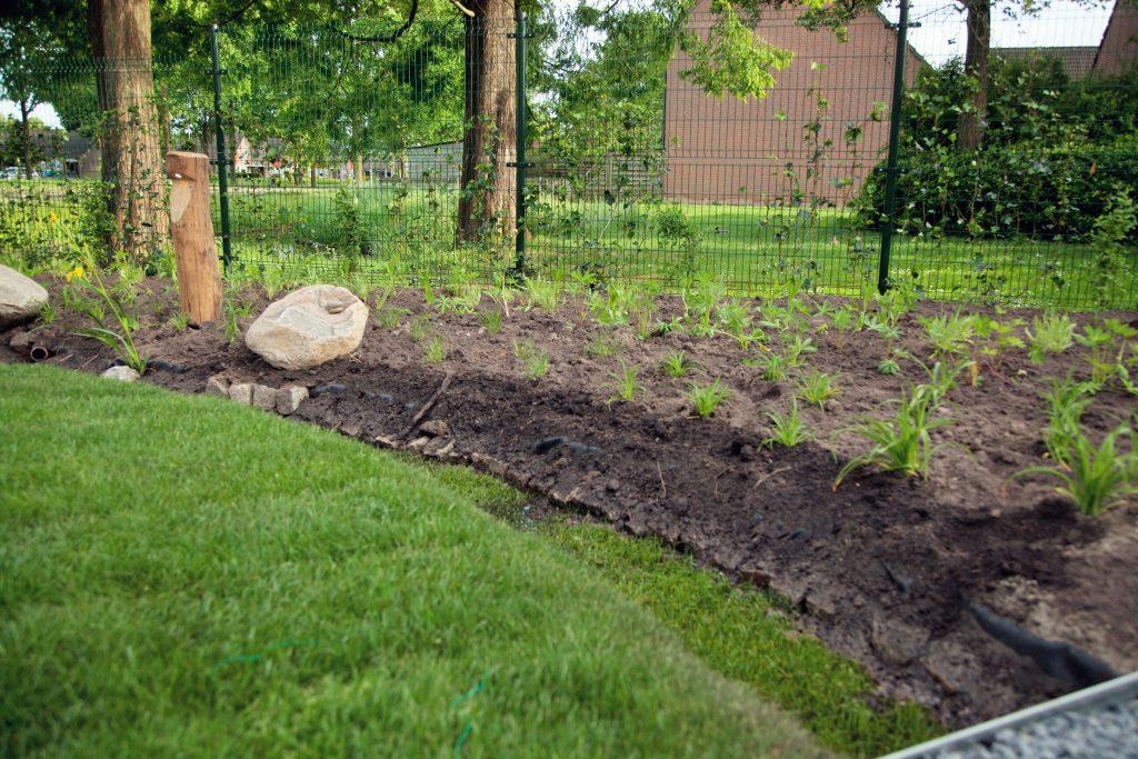Regenwateropvang natuurlijke tuin